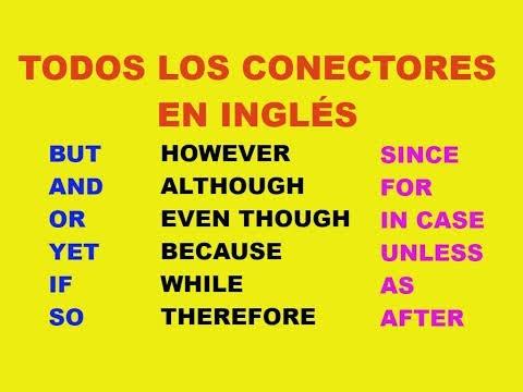 Conectores en inglés!